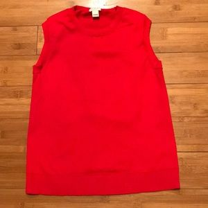 J Crew Perfect fit red sweater tank